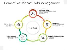 Elements Of Channel Data Management