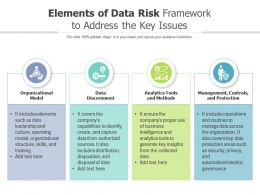 Elements Of Data Risk Framework To Address The Key Issues