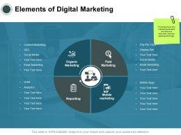 Elements Of Digital Marketing Analytics Ppt Powerpoint Presentation File Professional