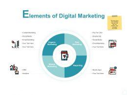 Elements Of Digital Marketing Organic Marketing Ppt Powerpoint Slides