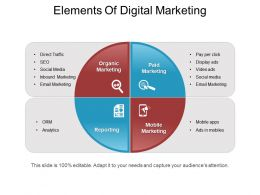 Elements Of Digital Marketing Ppt Example File