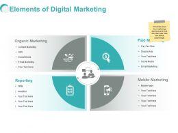 Elements Of Digital Marketing Ppt Powerpoint Presentation Clipart