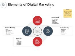 Elements Of Digital Marketing Reporting Ppt Powerpoint Presentation Outline