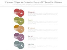Elements Of Learning Ecosystem Diagram Ppt Powerpoint Shapes
