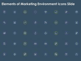 Elements Of Marketing Environment Icons Slide Ppt Powerpoint Presentation Pictures Grid