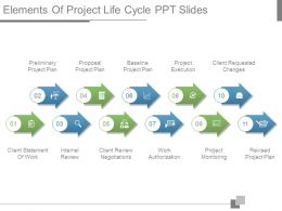 Elements Of Project Life Cycle Ppt Slides
