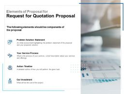 Elements Of Proposal For Request For Quotation Proposal Ppt Template