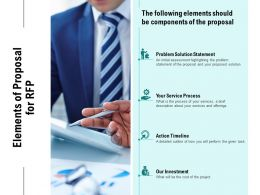 Elements Of Proposal For RFP Ppt Powerpoint Presentation Infographic Template Guide