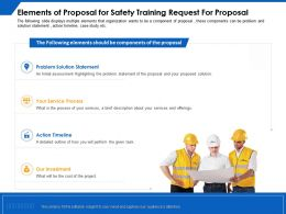 Elements Of Proposal For Safety Training Request For Proposal Statement Ppt Powerpoint Presentation Styles