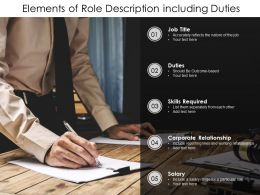 Elements Of Role Description Including Duties