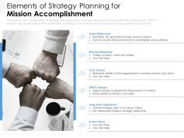 Elements Of Strategy Planning For Mission Accomplishment