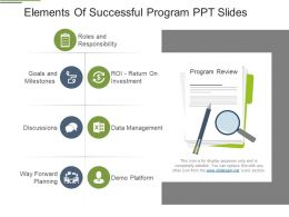 Elements Of Successful Program Ppt Slides