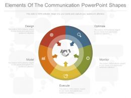 Elements Of The Communication Powerpoint Shapes