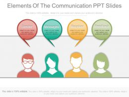 Elements Of The Communication Ppt Slides