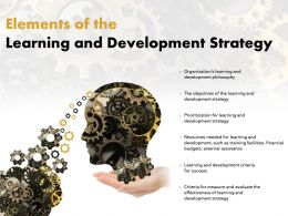 Elements Of The Learning And Development Strategy