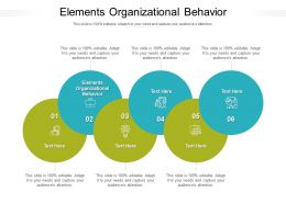 Elements Organizational Behavior Ppt Powerpoint Presentation Summary Model Cpb