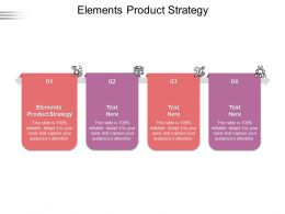 Elements Product Strategy Ppt Powerpoint Presentation Demonstration Cpb