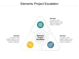 Elements Project Escalation Ppt Powerpoint Presentation Model Portfolio Cpb