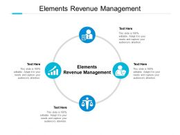 Elements Revenue Management Ppt Powerpoint Presentation Icon Cpb
