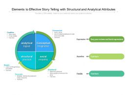 Elements To Effective Story Telling With Structural And Analytical Attributes