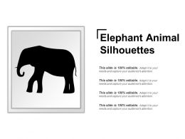 Elephant Animal Silhouettes Powerpoint Images