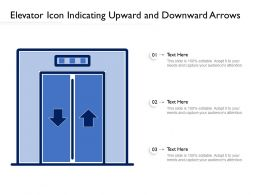 Elevator Icon Indicating Upward And Downward Arrows