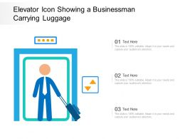 Elevator Icon Showing A Businessman Carrying Luggage