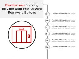 Elevator Icon Showing Elevator Door With Upward Downward Buttons