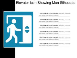 Elevator Icon Showing Man Silhouette