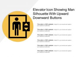 Elevator Icon Showing Man Silhouette With Upward Downward Buttons