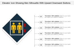 Elevator Icon Showing Men Silhouette With Upward Downward Buttons
