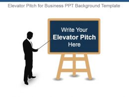 Elevator Pitch For Business Ppt Background Template