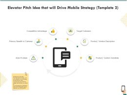 Elevator Pitch Idea That Will Drive Mobile Strategy R265 Ppt Icon Guide