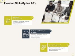 Elevator Pitch L2175 Ppt Powerpoint Presentation Model Slideshow