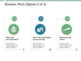 Elevator Pitch Opportunity Ppt Powerpoint Presentation File Inspiration