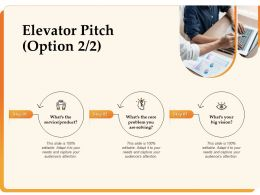 Elevator Pitch Option Big Vision Service Ppt Powerpoint Presentation Visual Aids Pictures