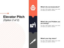 Elevator Pitch Option Ppt Powerpoint Presentation Summary Gridlines