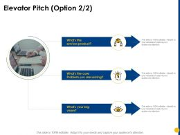 Elevator Pitch Option Problem Solving Ppt Powerpoint Presentation Professional Example Introduction