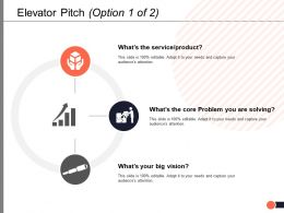 Elevator Pitch Option Strategy Ppt Powerpoint Presentation Summary Grid