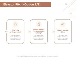 Elevator Pitch Option Vision Ppt Powerpoint Presentation Styles Introduction