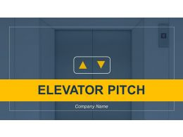 Elevator Pitch Powerpoint Presentation Slides