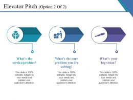 Elevator Pitch Ppt Infographic Template