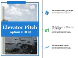 Elevator Pitch Ppt Summary Templates