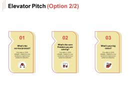 Elevator Pitch Product Ppt Powerpoint Presentation Icon Ideas