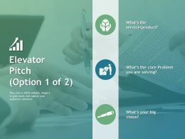 Elevator Pitch Puzzle Ppt Powerpoint Presentation File Rules