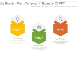 Elevator Pitch Template1 Example Of Ppt