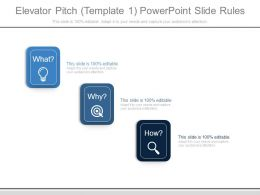 Elevator Pitch Template1 Powerpoint Slide Rules