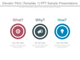 Elevator Pitch Template1 Ppt Sample Presentations