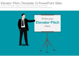 Elevator Pitch Template3 Powerpoint Slide