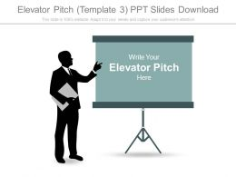 Elevator Pitch Template3 Ppt Slides Download